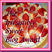 2011 Irresistibly Sweet Award