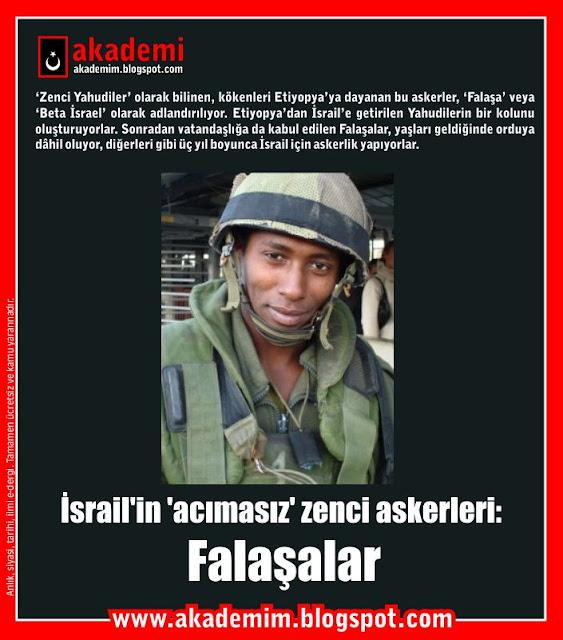 İsrail'in 'acımasız' zenci askerleri Falaşalar