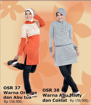 Model Baju Kaos Muslim Osmoes Orange Abu Tua dan Abu Misty Coklat