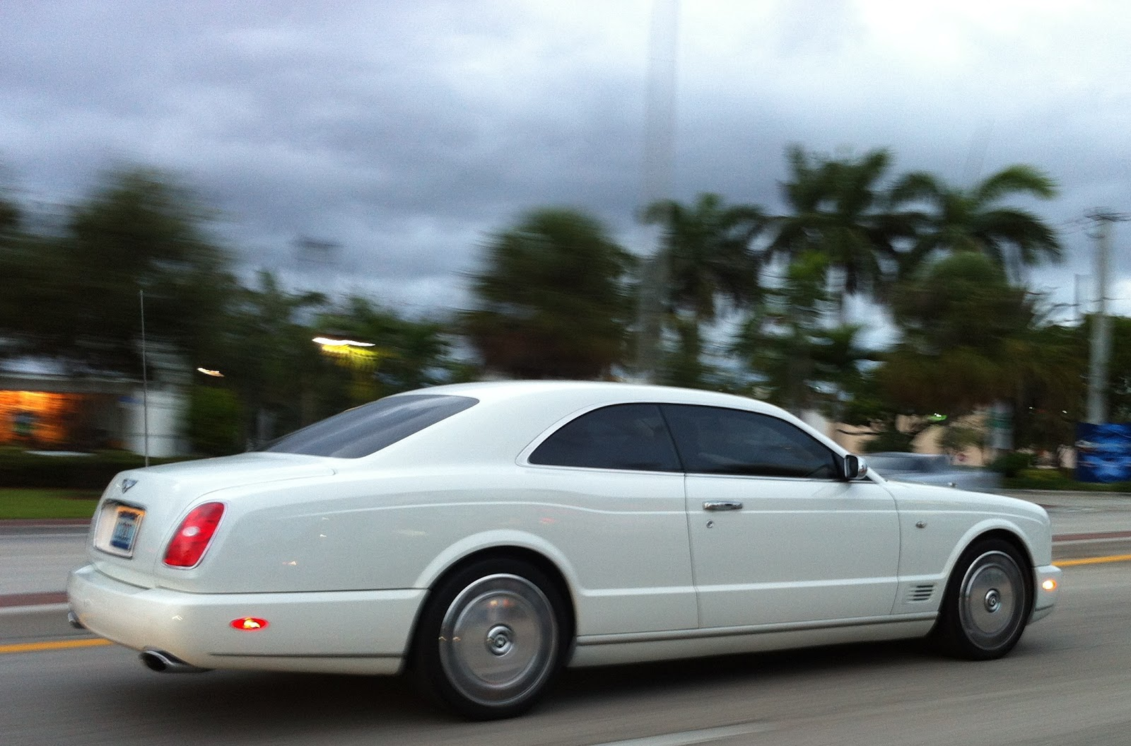 White Bentley Brooklands Coupe North Miami Exotic Cars