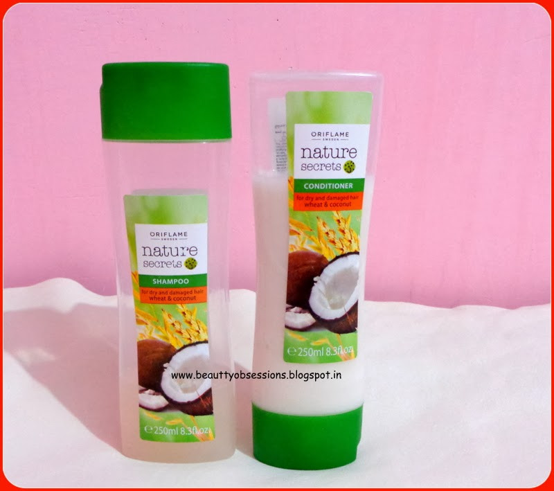 Review : Oriflame's Nature Secrets Shampoo & Conditioner For Dry And Damaged Hair Wheat & Coconut