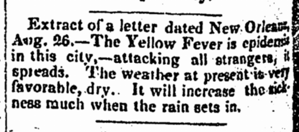yellow fever  no newspaper Yellow Fever 1793 Newspaper