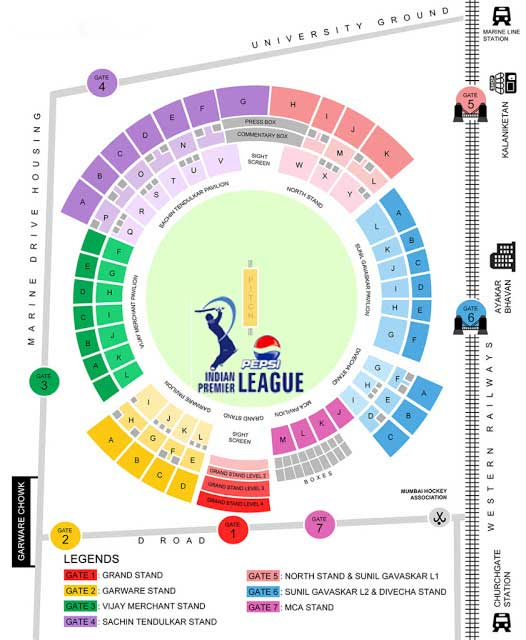 Online Tickets Booking: Mumbai Indians at Wankhede Stadium Mumbai IPL 6 2013