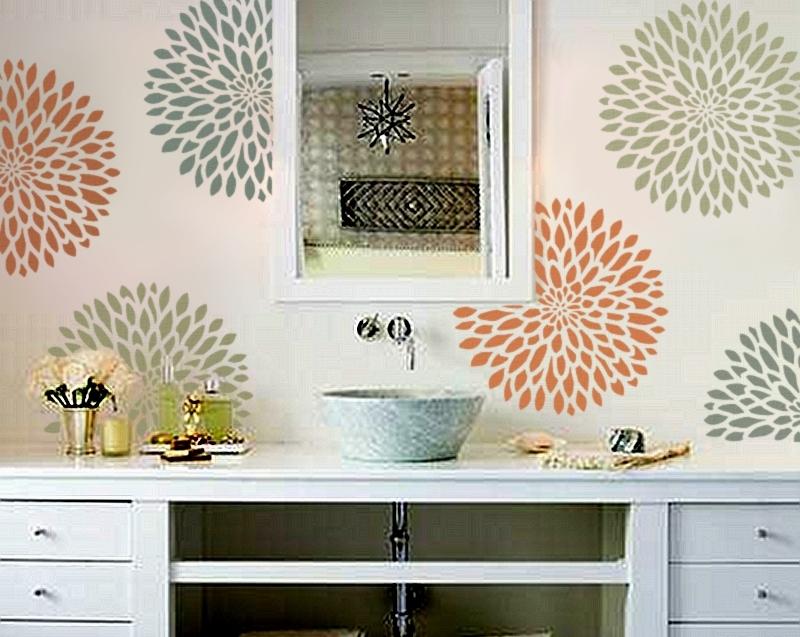 Haus design a stencil solution for Bathroom stencils designs