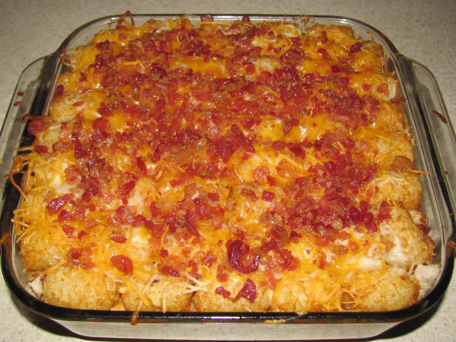 Holly's Stew: Cheesy Bacon Tater Tot Casserole