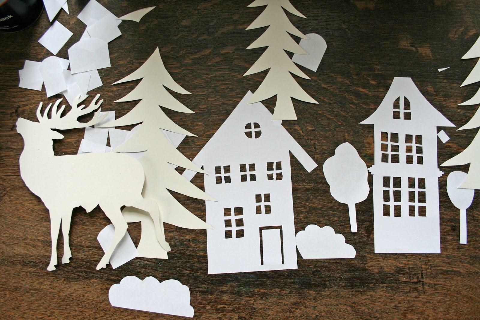 haseundflo diy weihnachtsstadt. Black Bedroom Furniture Sets. Home Design Ideas