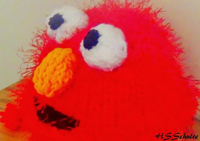 The Knifty Knitter Elmo Earflap Hat Loom Knit