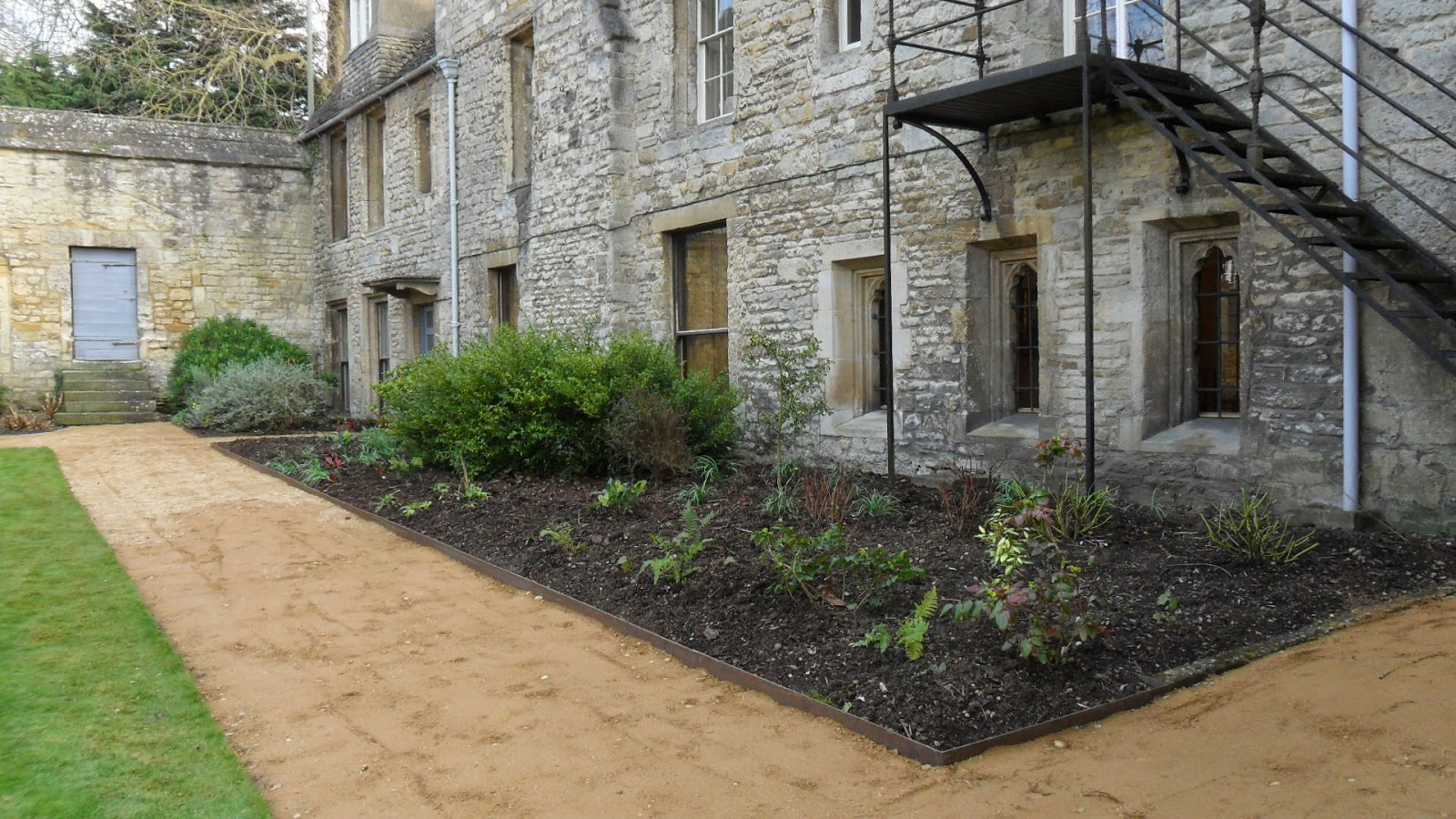 Worcester College Gardeners A New Hoggin Path In The