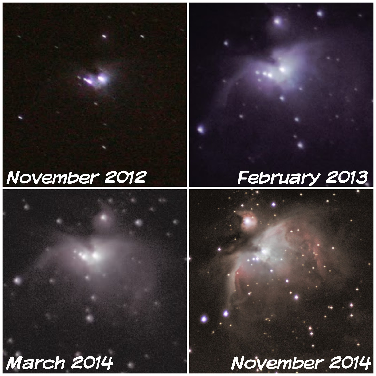 improvement in orion m42 photography