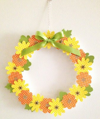 Floral autumn wreath 1