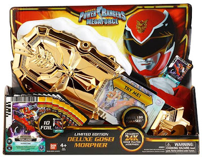 Bandai Power Rangers SDCC 2013 Exclusive 24k Gold Plated Gosei Morpher