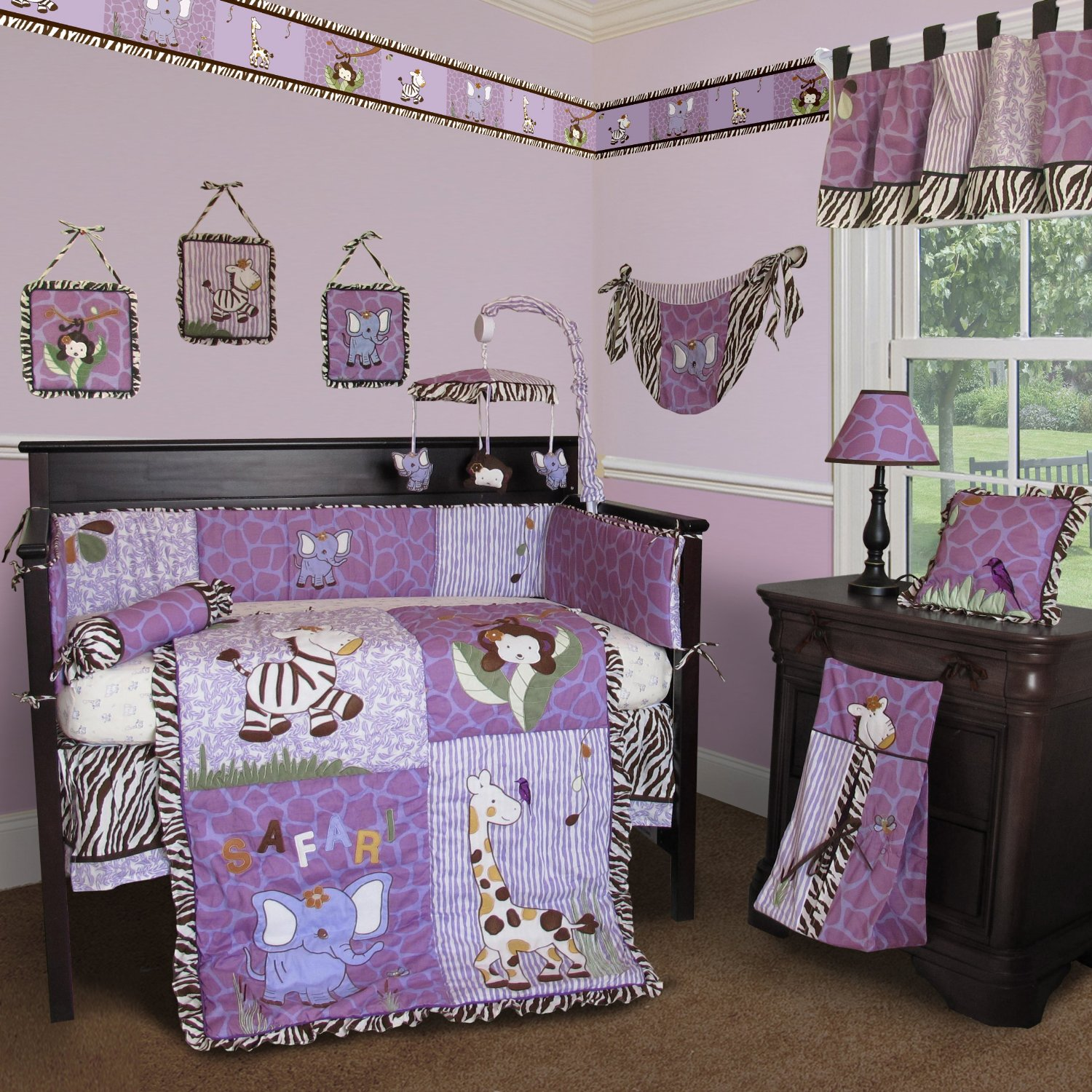 Custom baby girl boutique modern baby crib sets Baby girl bedding