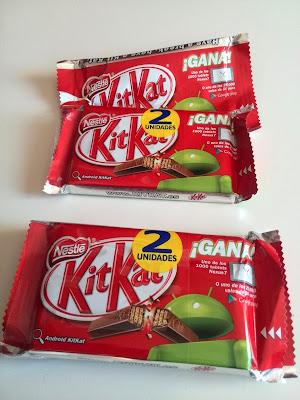 2 bipack de KitKat de la promoción Android