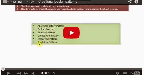 Java ee creational design patterns playlist for Object pool design pattern java example