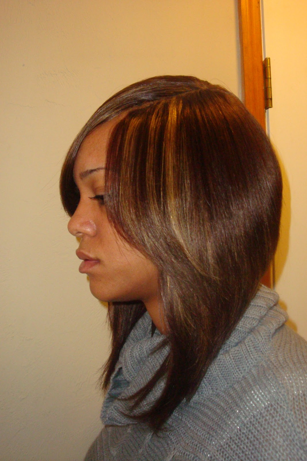 Full Sew in with Invisible Part Bob