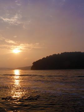 Sunset on the Jersey Shore by Toni Leland