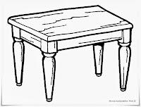 Gambar Meja Kayu Jati Untuk Diwarnai
