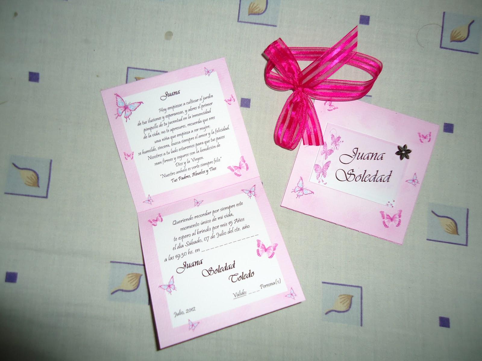 Diseños de tarjetas para los 15 años - Imagui