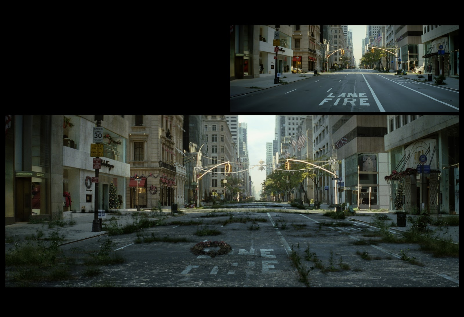 I am Legend-- Matte Painting  I Am Legend Background