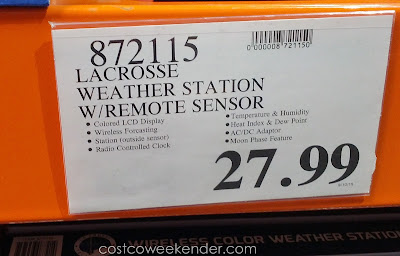 Deal for the La Crosse Wireless Color Weather Station at Costco