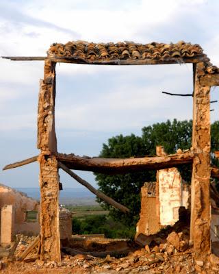 Casa en ruinas de Belchite Viejo