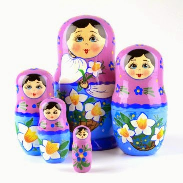 Nesting Doll with Daffodils Item # ND02110A05