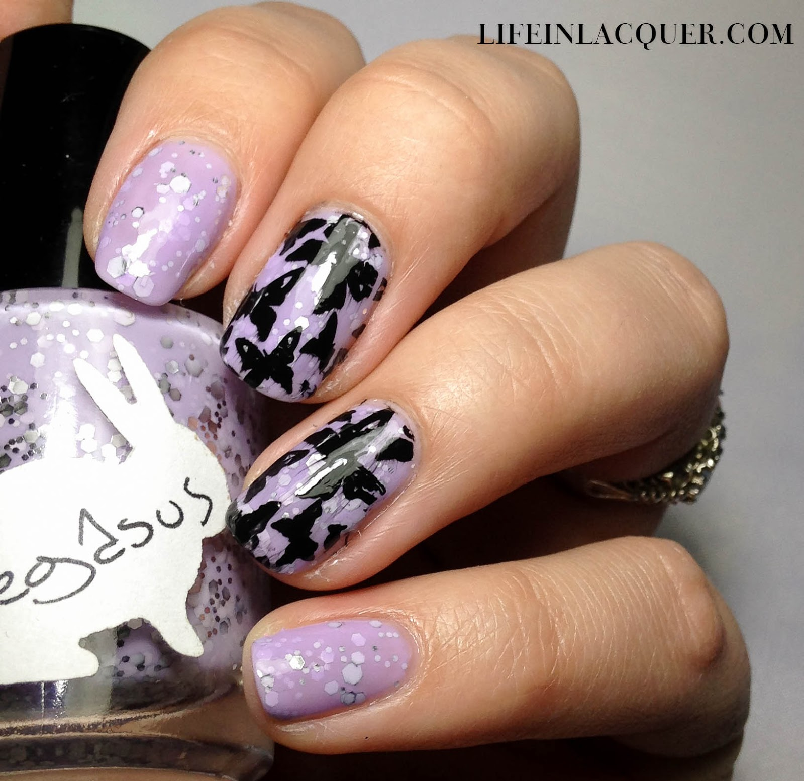 Hare Pegasus Butterfly Nail Art MZR07