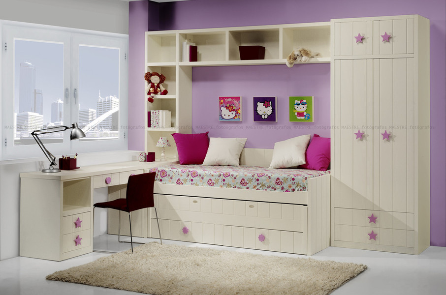 Cama individual y palacio de juegos - Dormitorios infantiles madrid ...