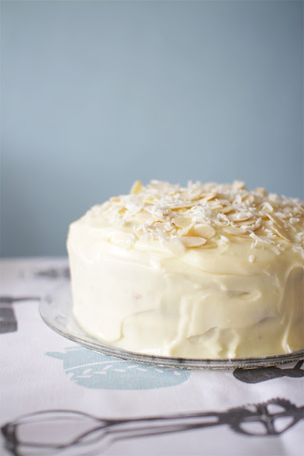 The Cupcake Ballroom: Coconut Cake with Lemon Cream Cheese Frosting