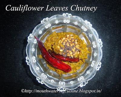 Cauliflower Leaves Chutney