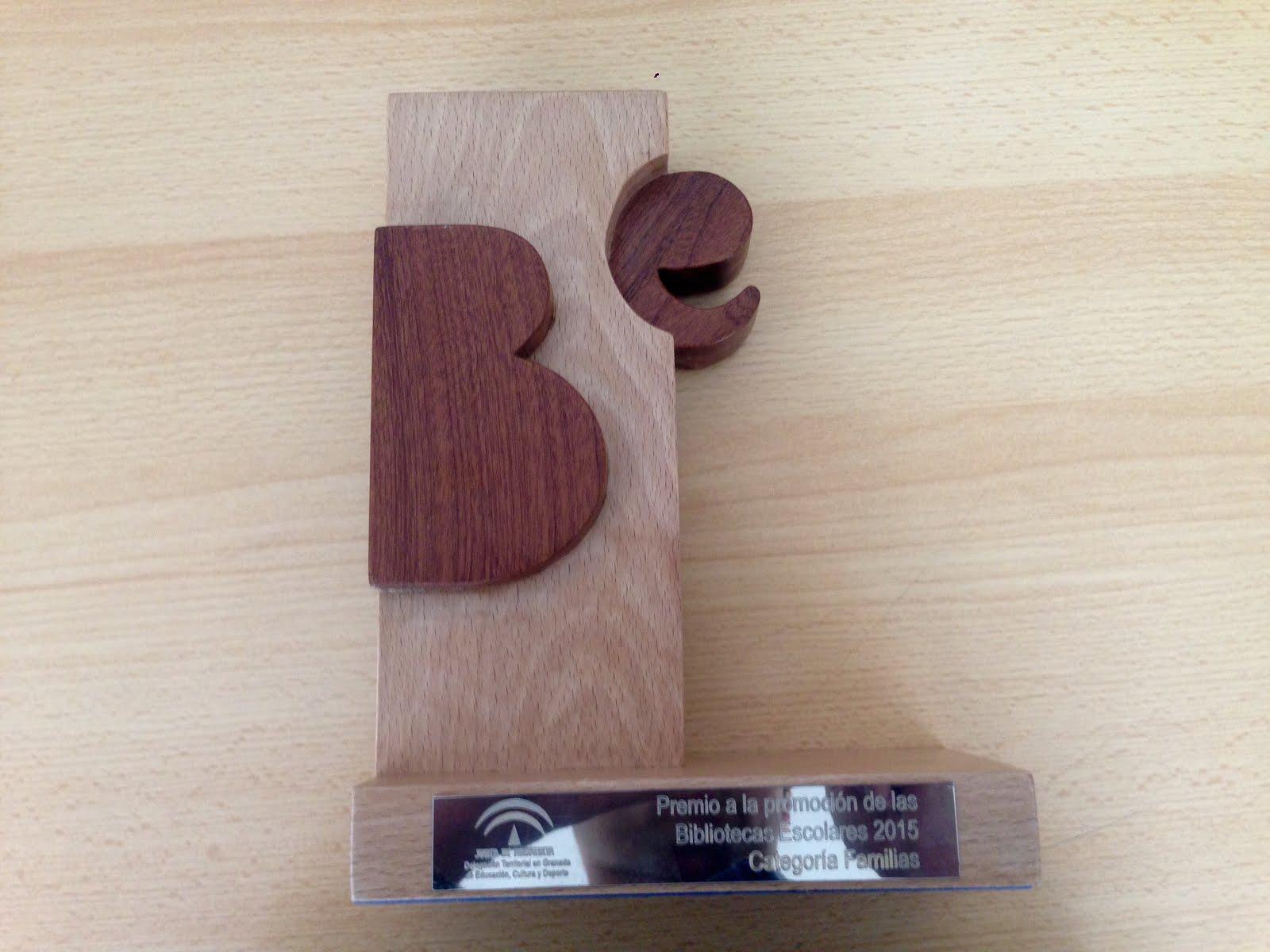 Premio a la promoción de las Bibliotecas Escolares 2015