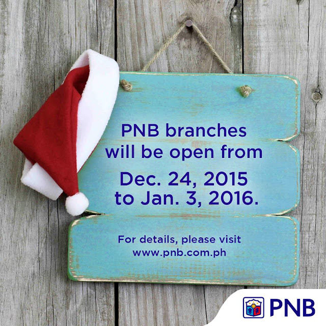 Philippine National Bank (PNB)  Holiday Schedule