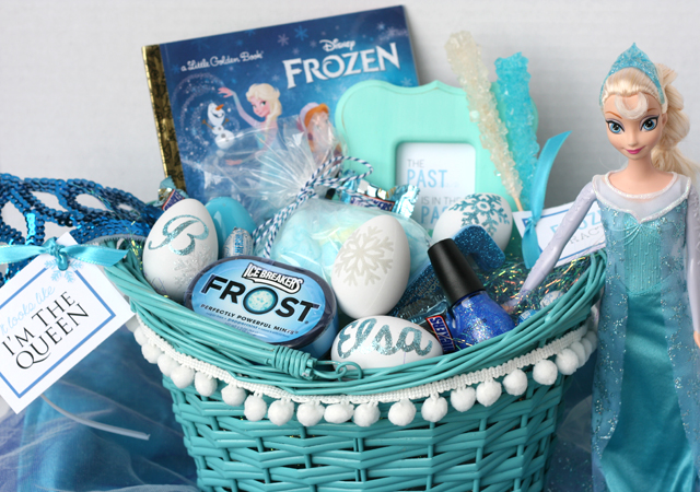 Frozen elsa easter basket my sisters suitcase packed with for the diy part of the basket i came up with these glitter and flocked eggs theyre actually plastic eggs that were 197 a dozen at walmart they negle Images