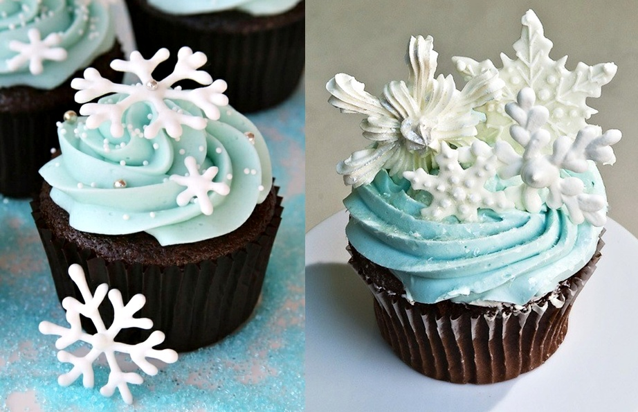 Snow-topped Holiday Cupcake Recipe — Dishmaps