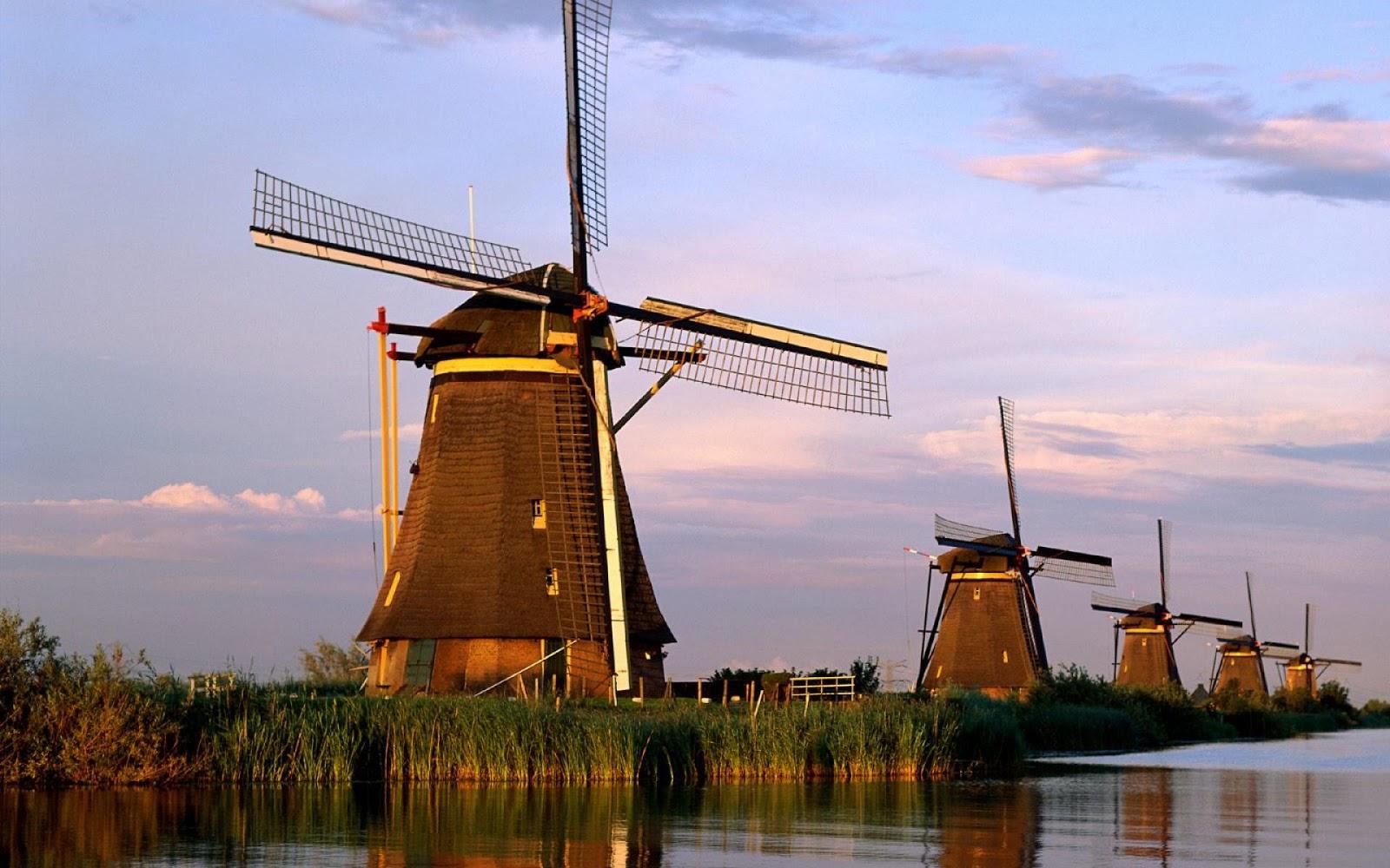 Windmills Kinderdijk Rotterdam