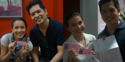 Karylle and Tippy Dos Santos of Carlo Orosa's Stages get Call Back slips for Miss Saigon (Photo courtesy of Carlo Orosa)