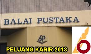 Lowongan Balai Pustaka Januari 2013 Tingkat SLTA & D3 Di Jakarta