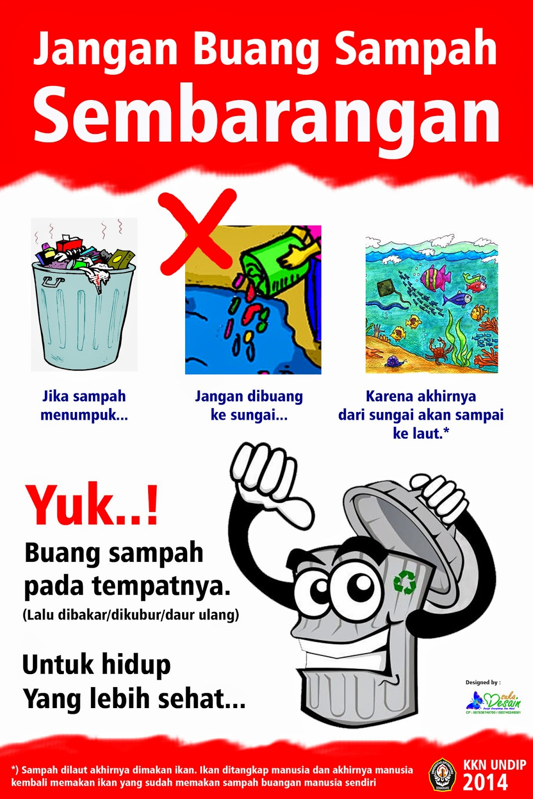 Poster Jangan Buang Sampah Sembarangan - SUKADESAIN