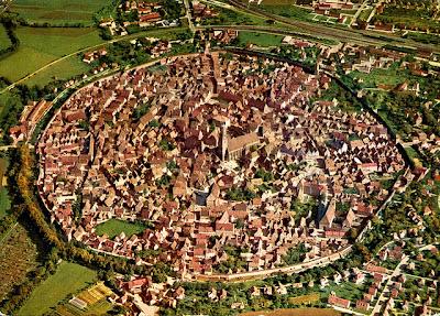 pueblo, cráter, encanto, Alemania, Nördlingen
