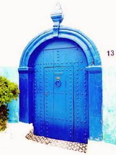 door, blue, Kasbah of Rabat