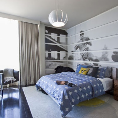 Sophisticated Boys baseball bedroom