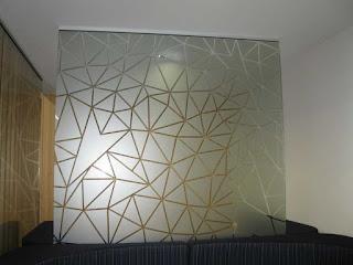 foto de impressão digital em vidros
