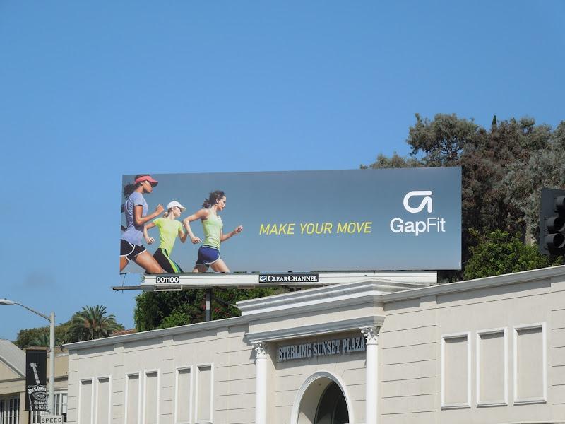 Gap Fit running billboard