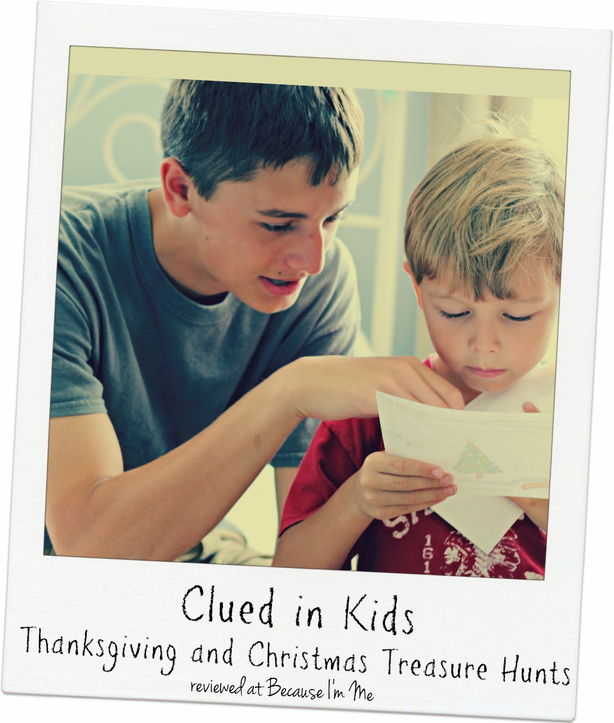 Because I'm Me reviews Clued in Kids holiday treasure hunts, created for kids and adults