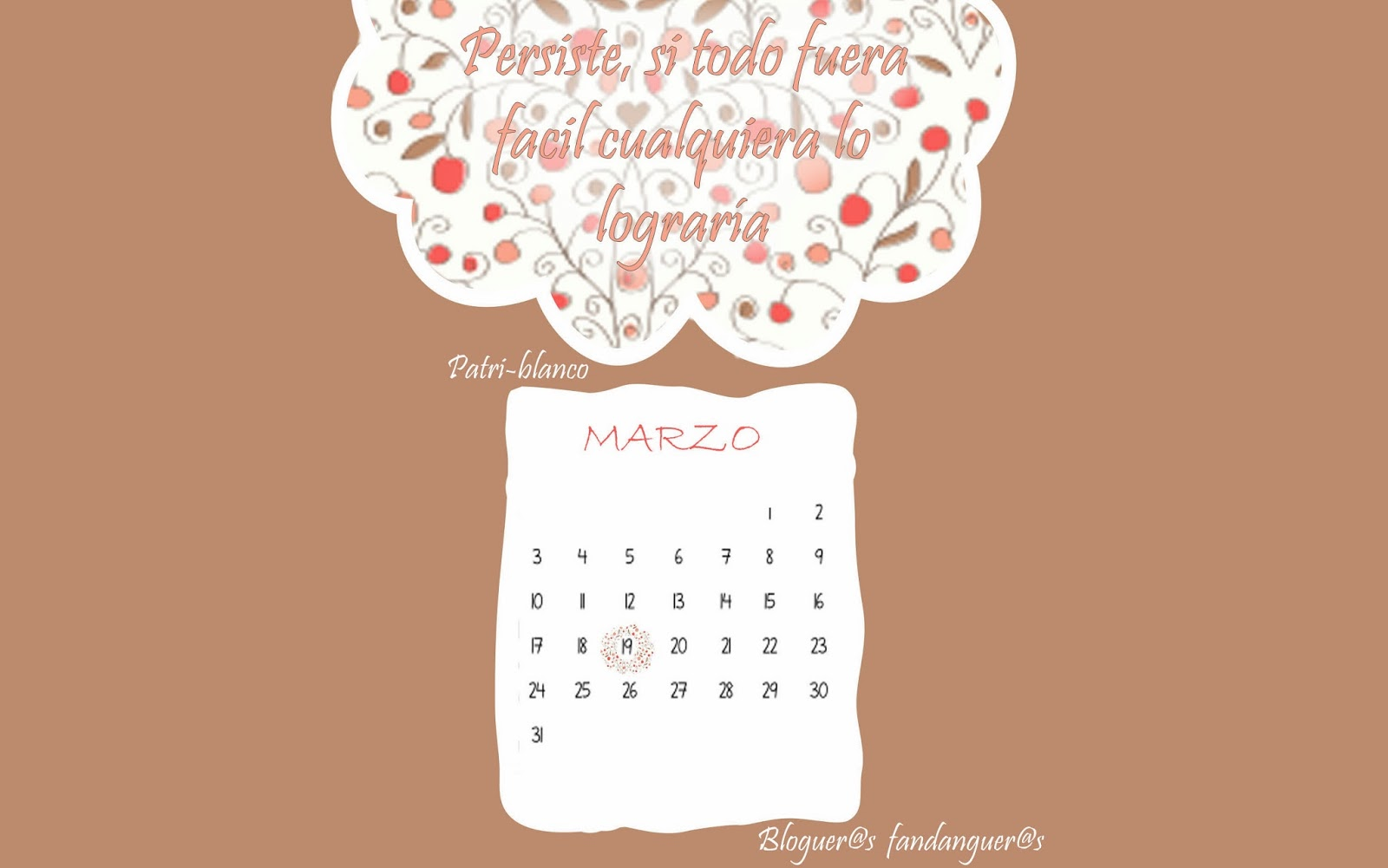 mi calendario Marzo