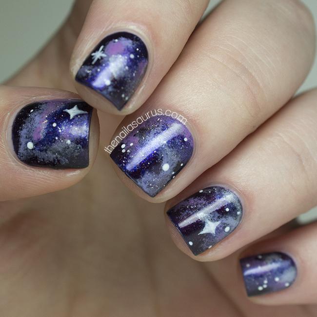No7 Galaxy with Galaxy Nail Art - The Nailasaurus | UK Nail Art Blog