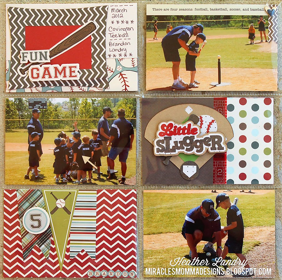 Divided Page Protector_Baseball_Die Cut_Scrapbook Page