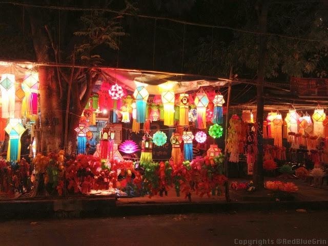 Shop of Lanterns during night, Mumbai