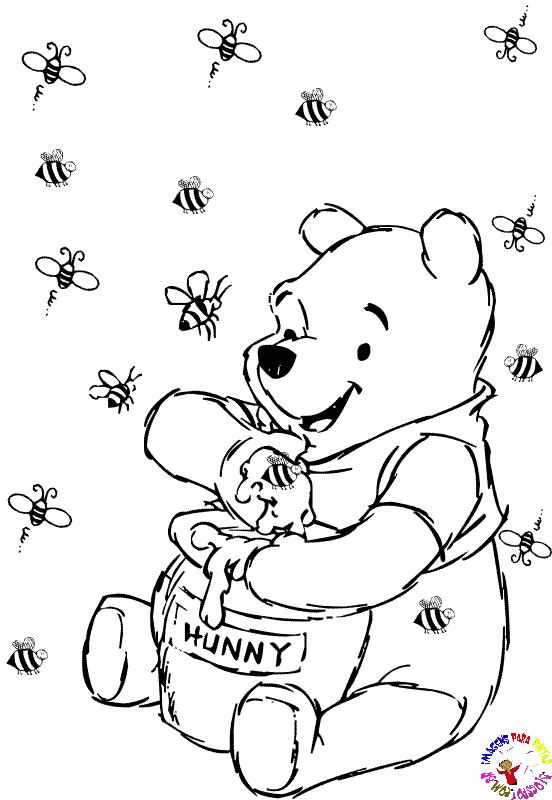 Desenhos Para Colori Ursinho Pooh desenhar