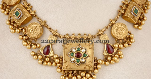 Latest Classy Gold Necklace Jewellery Designs